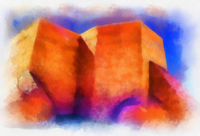 Digital Art - Ranchos Nave - Watercolor by Charles Muhle