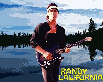 Photograph - Randy California At Amber Lake by Ben Upham