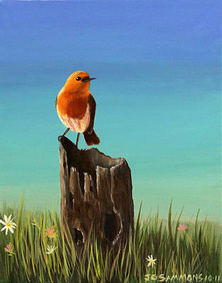 Randy The Robin Art Print by Janet Greer Sammons