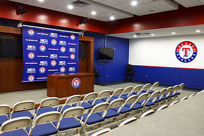 Photograph - Rangers Press Room by Ricky Barnard