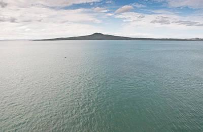 Y120831 Photograph - Rangitoto Volcano And Hauraki Gulf Sea by Sean Lowcay - www.seanlowcay.com