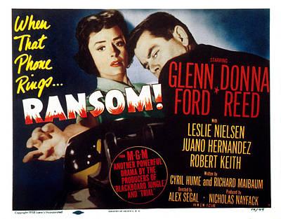 Ransom, Donna Reed, Glenn Ford, 1956 Art Print by Everett