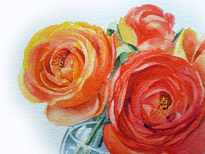 Peony Painting - Ranunculus by Irina Sztukowski