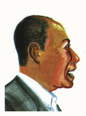 Haitian Drawing - Raoul Peck by Emmanuel Baliyanga