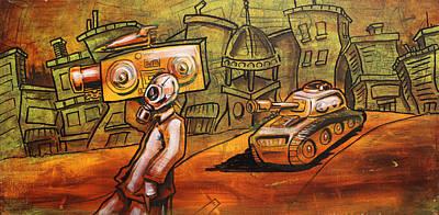 Rap Battle Art Print by Joshua Dixon
