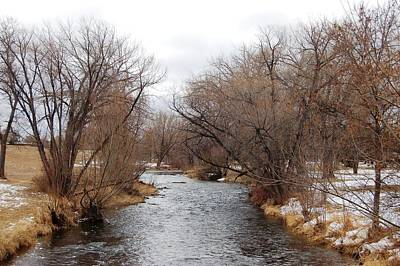 Photograph - Rapid Creek In Winter Sky by Dakota Light Photography By Dakota