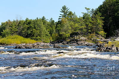 Photograph - Rapids Of Menominee River by Pamela Walrath