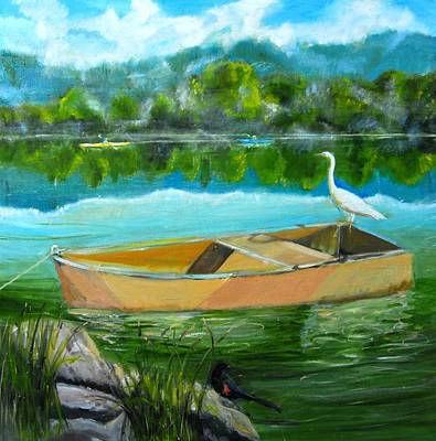 Rare Moment At Spring Lake Art Print by Terrence  Howell