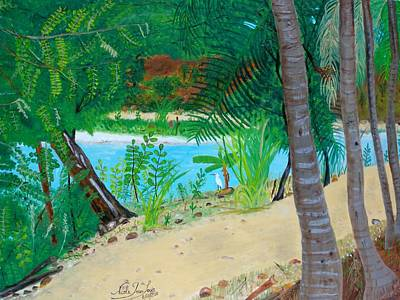 Haitian Painting - Rare Visitor by Nicole Jean-Louis