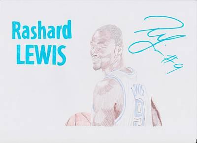 Rashard Lewis Art Print by Toni Jaso