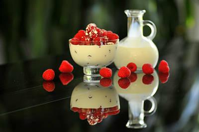 Photograph - Raspberries And Cream by Douglas Pike