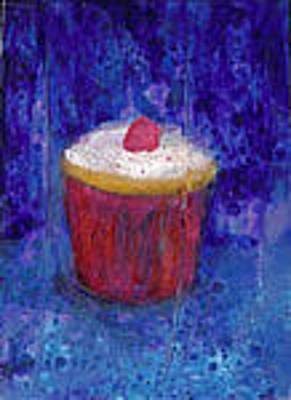 Jeannine Painting - Raspberry Blue by Jeannine Luke