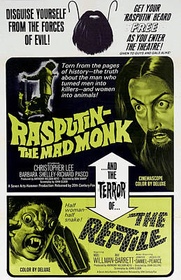 Mad Monk Photograph - Rasputin The Mad Monk, Christopher Lee by Everett