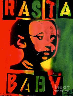 First Amendment Painting - Rasta Baby by Tony B Conscious