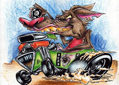 Rat Mobile Too Art Print by Big Mike Roate