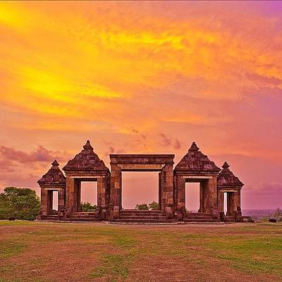 Hair Photograph - Ratu Boko Is An Archaeological Site by Tommy Tjahjono