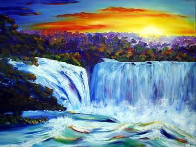 Karin Mueller Painting - rauschendes Wasser by Karin Mueller