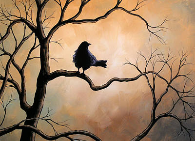 Wintertime Painting - Raven by Amy Giacomelli