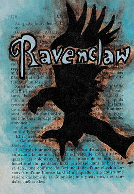 Deathly Hallows Painting - Ravenclaw Eagle by Jera Sky