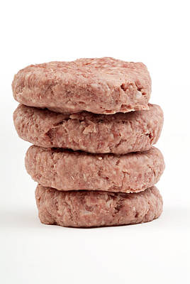 Raw Burgers Art Print by Courtesy Of Crown Copyright Fera
