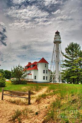 Photograph - Rawley Point Lighthouse by Mark David Zahn Photography