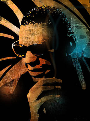 Painting - Ray Charles by Paul Sachtleben