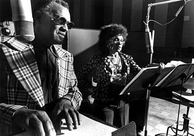 Cleo Photograph - Ray Charles, With Cleo Laine Recording by Everett