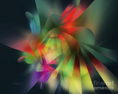 Beam Digital Art - Ray Of Hope by Jutta Maria Pusl