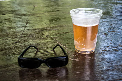 Beer Photograph - Raybans And A Beer by Bill Cannon