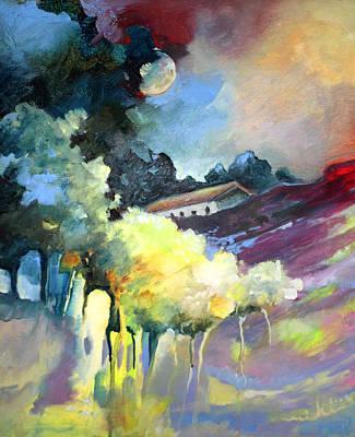 Moonshine Painting - Rayo De Luna En La Dehesa by Miki De Goodaboom