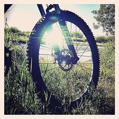 Mtb Photograph - Rays And Spokes! #speyside_way #spey by Robert Campbell