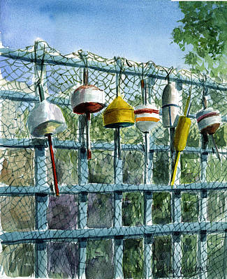 Bouys Painting - Ray's Fence by Paul Gardner
