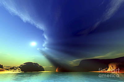 Sun Rays Digital Art - Rays From The Sun Shine Down On This by Corey Ford