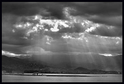 Photograph - Rays From The Sun. by Terence Davis