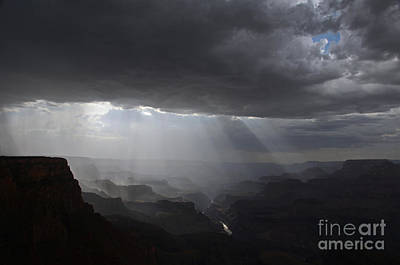 Rays In The Canyon Art Print