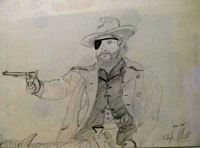 Rooster Cogburn Drawing - Reach For The Sky by Tyler Martin