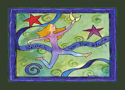 Corwin Painting - Reach For The Stars by Pamela  Corwin