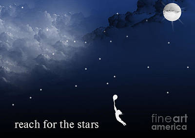 Digital Art - Reach For The Stars by Trilby Cole