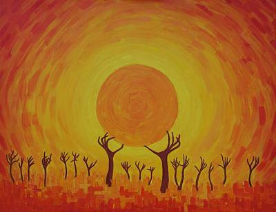Painting - Reaching For The Sun by Lone Quixote