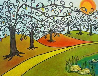 Reaching Out Art Print by Sharon Lee Samyn