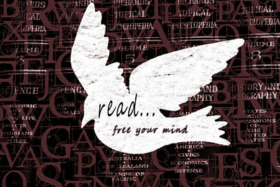 Read Mixed Media - Read Free Your Mind Brick by Angelina Vick