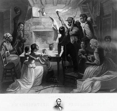 Reading Emancipation Proclamation Print by Photo Researchers