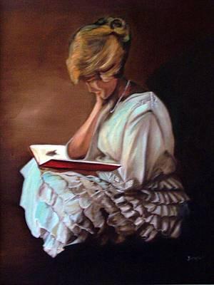 Reading Art Print by Joyce Reid