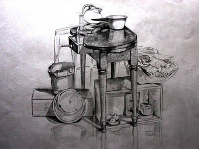 Drawing - Ready For Supper by Carolyn Ardolino
