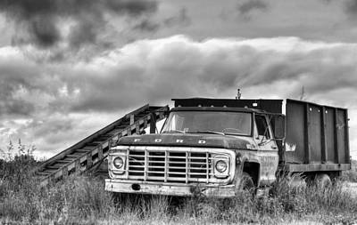 Ready For The Harvest Bw Art Print by JC Findley