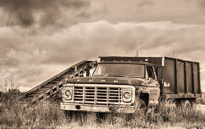 Ready For The Harvest Sepia Art Print