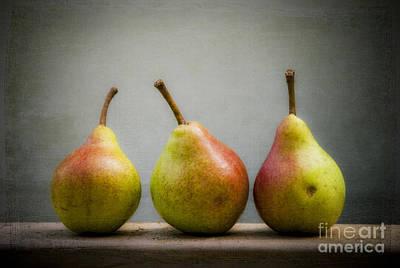 Photograph - Three Pears   by Alana Ranney