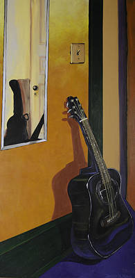 Ready To Play Guitar Art Print by Jennifer Noren
