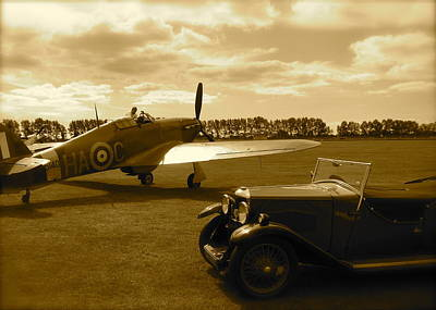 Art Print featuring the photograph Ready To Scramble - Spitfire by John Colley