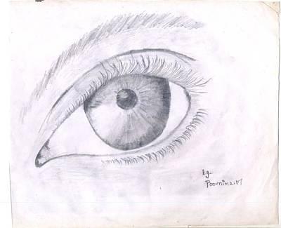 Drawing - Real Eye by Poornima M